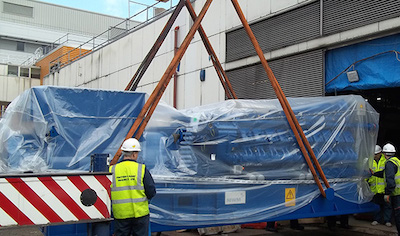The CHP Engine Being Delivered At Northampton General Hospital